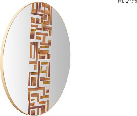 Abstract Single Beige Mosaic Mirror image 5