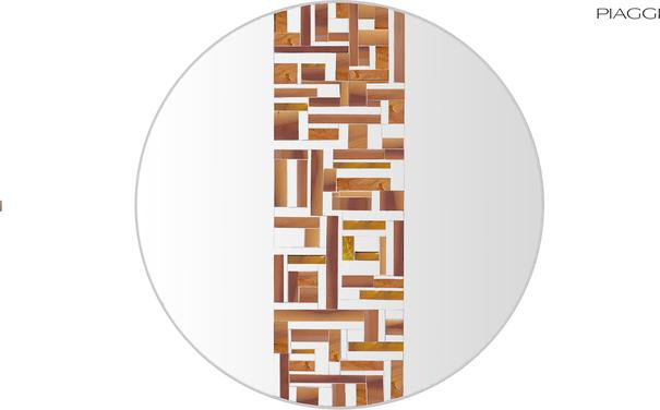 Abstract Single Beige Mosaic Mirror image 6
