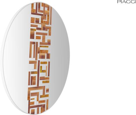 Abstract Single Beige Mosaic Mirror image 7
