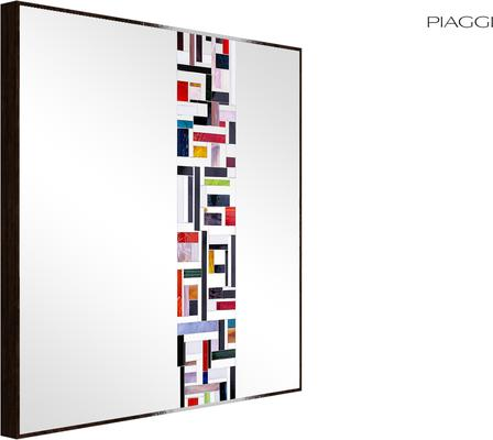 Abstract Square Single Mosaic Mirror image 2