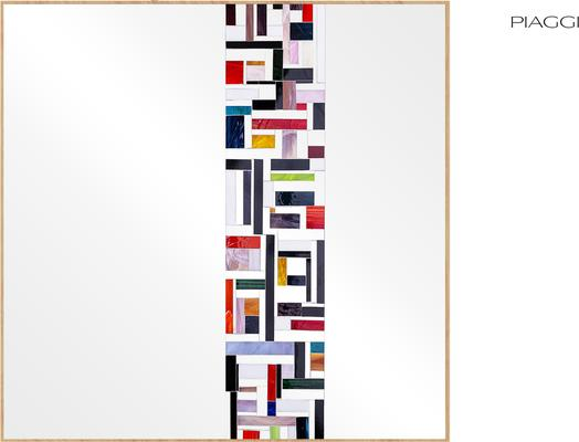 Abstract Square Single Mosaic Mirror image 3