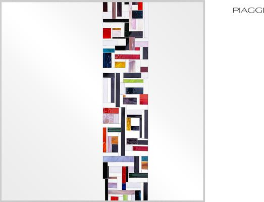 Abstract Square Single Mosaic Mirror image 5