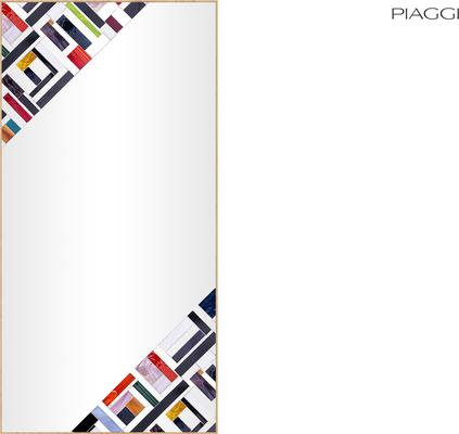 Abstract Rectangle Double Mosaic Mirror image 4