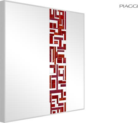 Abstract Square Single Red Mosaic Mirror image 6