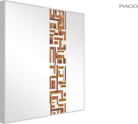 Abstract Square Single Red Mosaic Mirror image 8