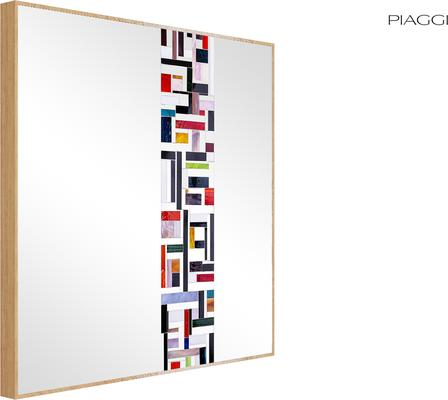 Abstract Square Single Red Mosaic Mirror image 9
