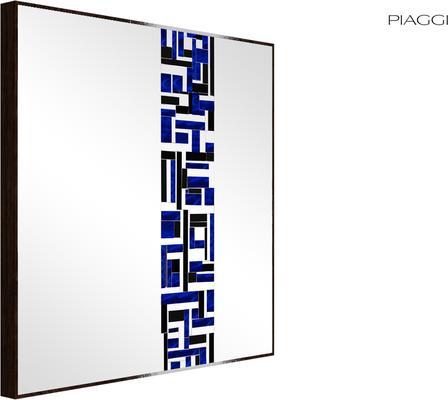 Abstract Square Single Blue Mosaic Mirror image 2