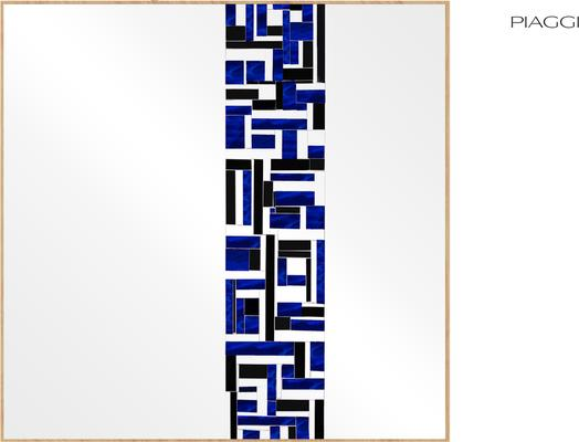 Abstract Square Single Blue Mosaic Mirror image 3