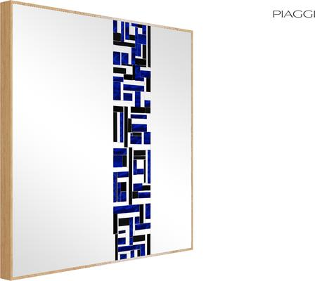 Abstract Square Single Blue Mosaic Mirror image 4