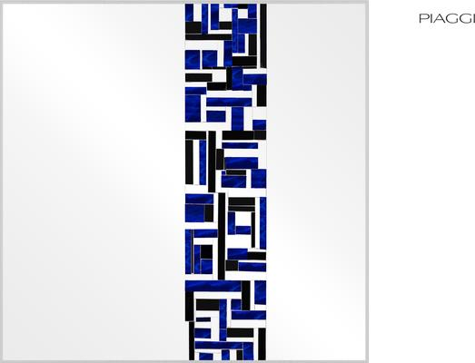 Abstract Square Single Blue Mosaic Mirror image 5