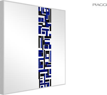Abstract Square Single Blue Mosaic Mirror image 6