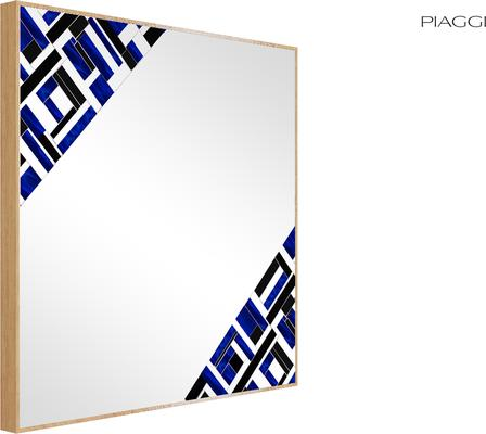 Abstract Square Double Blue Mosaic Mirror image 5
