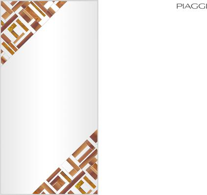 Abstract Rectangle Double Beige Mosaic Mirror image 2