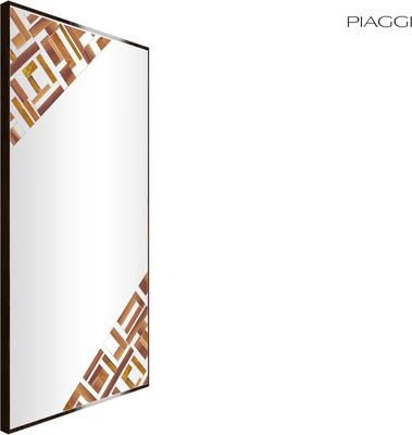 Abstract Rectangle Double Beige Mosaic Mirror image 3