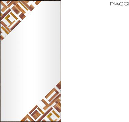 Abstract Rectangle Double Beige Mosaic Mirror image 4