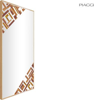 Abstract Rectangle Double Beige Mosaic Mirror image 5