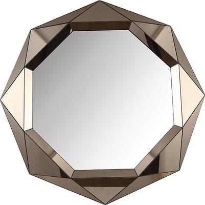 Lieber Geometric Mirror with Matt Bronze image 4