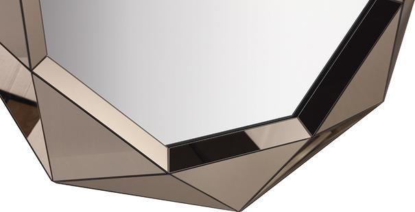 Lieber Geometric Mirror with Matt Bronze image 7