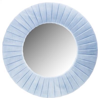 Piaggi blue velvet round mirror