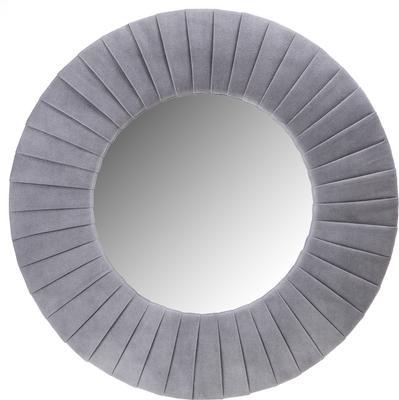 Piaggi grey velvet round mirror