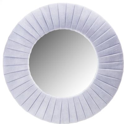 Piaggi light grey velvet round mirror
