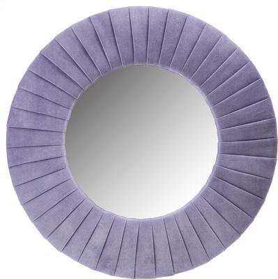 Piaggi violet velvet round mirror