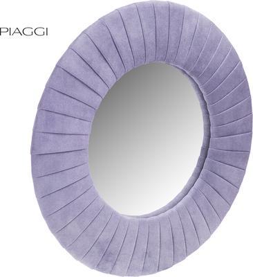 Piaggi violet velvet round mirror image 2