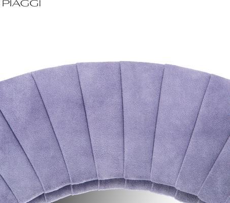 Piaggi violet velvet round mirror image 4