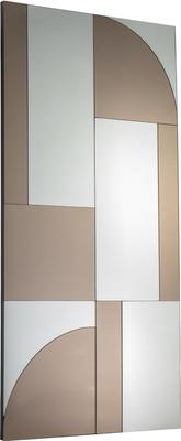 Cubist Bronze and Grey Rectangular Mirror image 2
