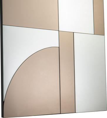 Cubist Bronze and Grey Rectangular Mirror image 3