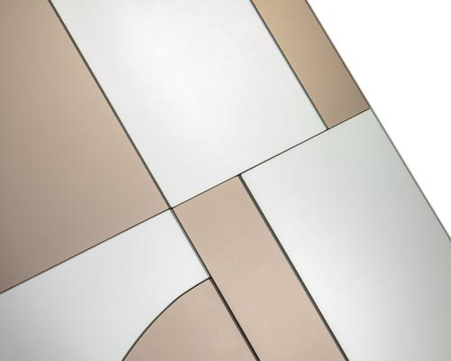Cubist Bronze and Grey Rectangular Mirror image 4