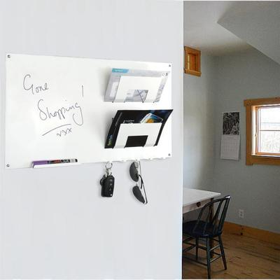 3 In 1 Magnetic Memo Board, Letter Rack And Key Holder - White