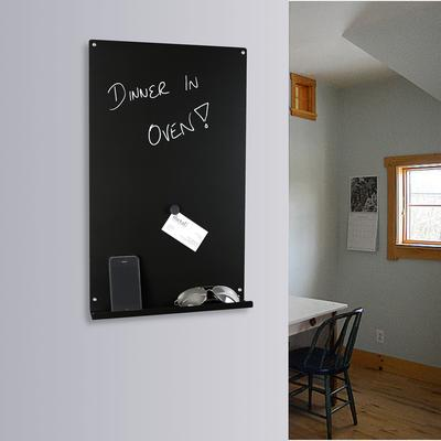 Vertical Magnetic Memo Board - Black
