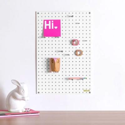 Block Medium PegBoard - White