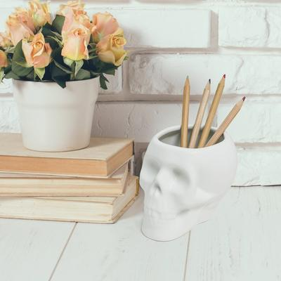 Skull Pen Pot image 2