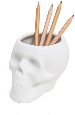 Skull Pen Pot