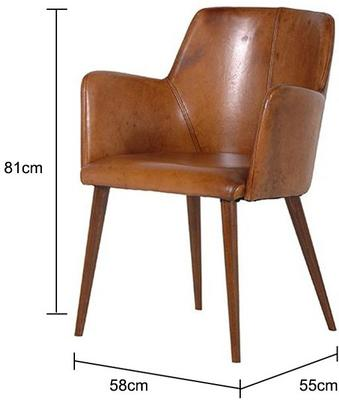 Brown Leather Office Chair image 2