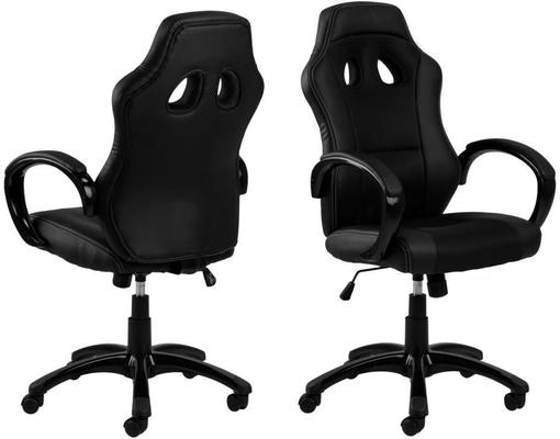 Race Desk Chair Padded Faux Leather with Gas Lift