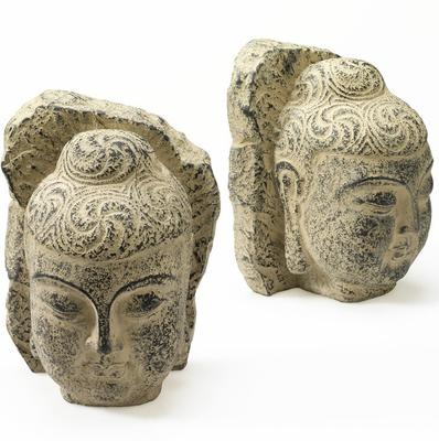 Pair of Buddha Head Bookends image 2