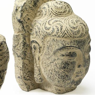 Pair of Buddha Head Bookends image 3