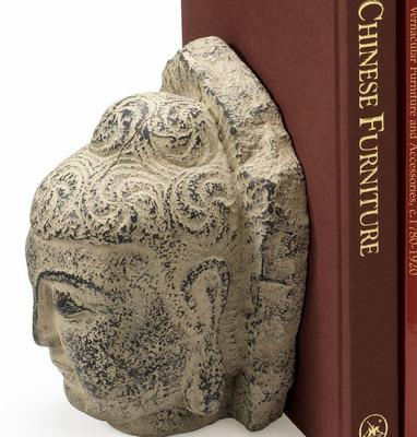 Pair of Buddha Head Bookends image 4