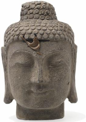 Buddha Head - Carved Stone
