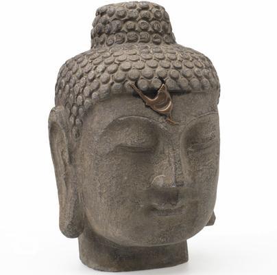 Buddha Head - Carved Stone image 2