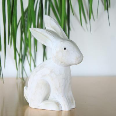 Sitting Rabbit Carved Ornament
