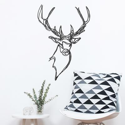 Stag Head Wooden Wall Art image 2