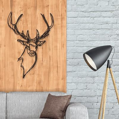 Stag Head Wooden Wall Art image 3