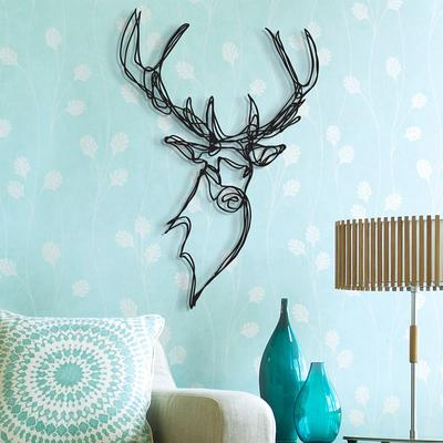 Stag Head Wooden Wall Art image 4