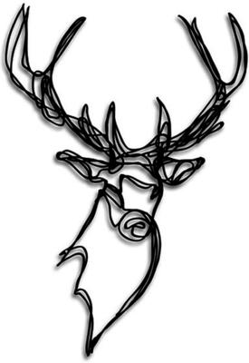 Stag Head Wooden Wall Art image 5
