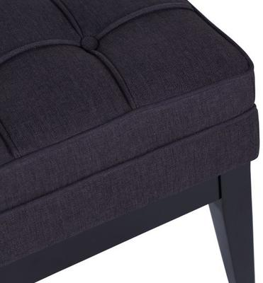 Miller Buttoned Fabric Ottoman image 4