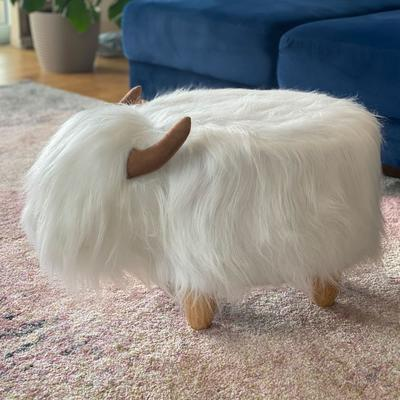Winston the White Highland Cow Footstool